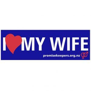 I Love My Wife Sticker