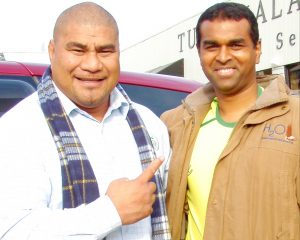 Inga Tuigamala with Myan Subrayan